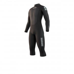 Costum neopren bărbaţi Mystic Brand Longarm Shortleg 3/2 Bzip Flatlock black