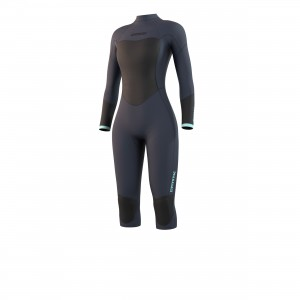 Costum neopren femei Mystic Brand Longarm Shortleg 3/2 Bzip Flatlock Women night blue