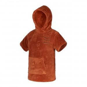 Prosop poncho copii Mystic Teddy Kids rusty red