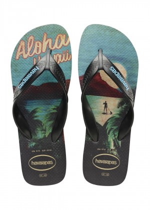 Slapi HAVAIANAS Surf black/turquoise