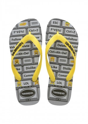 Slapi HAVAIANAS Mood steel grey/yellow