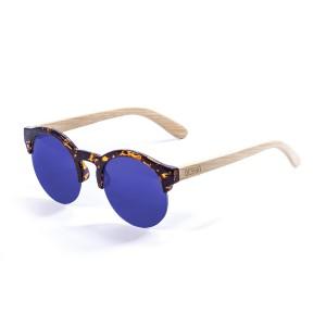 Ochelari Ocean Ocean Sotavento demy brown front frame bamboo temple & blue revo lens