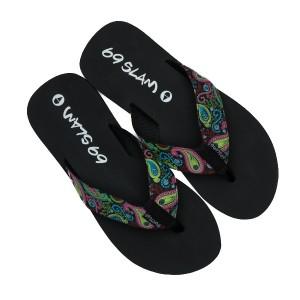 Papuci 69Slam Flops Black
