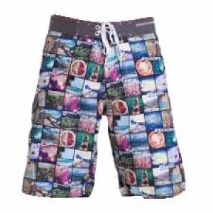 Pantaloni de plajă bărbați 69Slam Long Lenght Boardshort Hashtag