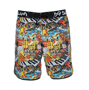 Pantaloni de plajă bărbați 69Slam Medium Length Boardshort Rafa City